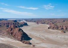 Veiwpoint de Darwin, Puerto Deseado, la Argentina Fotografía de archivo libre de regalías