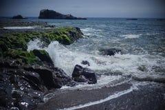 Veja a água Half Moon Bay Fotografia de Stock Royalty Free