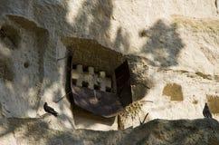 Veja a casa do pidgeon no vale sul de Cappadocia imagem de stock