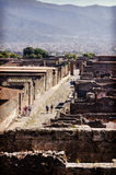 Veja a cidade antiga de Pompeii Imagens de Stock