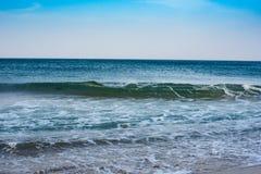 Veja a costa e o horizonte imagem de stock