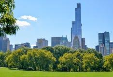 Veja do gramado do Central Park Fotografia de Stock