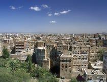 Vista em Sana'a imagens de stock royalty free