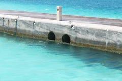 Veja no console de Maldives do avião fotos de stock royalty free