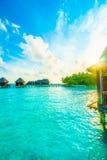 Veja no console de Maldives do avião Imagem de Stock