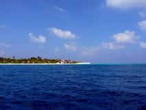 Veja no console de Maldives do avião Fotografia de Stock Royalty Free