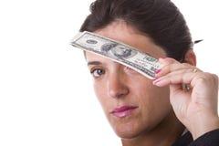 Veja o dinheiro Foto de Stock