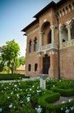 Veja o estilo velho de Brâncovenesc do renascimento de Wallachian da arquitetura do palácio Imagem de Stock Royalty Free