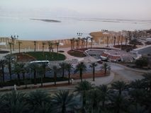Veja panaromic do hotel em Ein Bokek imagens de stock