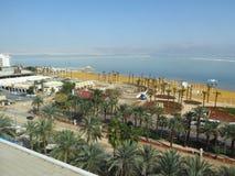 Veja panaromic do hotel em Ein Bokek fotos de stock royalty free