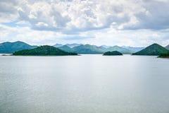 Veja a represa Petchburi de Kaeng Krachan do formulário, Tailândia Imagens de Stock Royalty Free