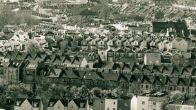Veja sobre Bristol Row Of Terraced Houses uma Inglaterra fotografia de stock royalty free
