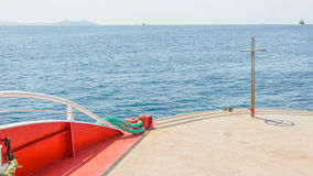 Veja sobre a plataforma de barcos Imagem de Stock Royalty Free