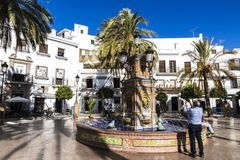 Vejer De-La Frontera, Spanien lizenzfreie stockfotos
