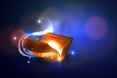 Vektopr-Buch von Magie auf einem hellen Hintergrund Lizenzfreie Stockfotos