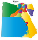 Vektorägypten-Karte stock abbildung