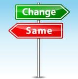 Vektorändring och samma riktningstecken Royaltyfri Bild