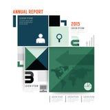 Vektorårsrapportbroschyr, reklamblad, design för tidskrifträkning Royaltyfri Fotografi