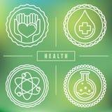 Vektoröversiktslogoer - sjukvård och medicin vektor illustrationer
