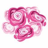 Vektor abstrackt Blumenillustration Lizenzfreie Stockfotos