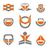 Vektor abstrakta Logo Icon Design Elements Royaltyfri Fotografi