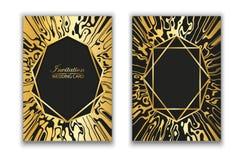 Vektor Abstrakte Beschaffenheit des Marmors Das goldene Spinnennetz Körnige Oberfläche r Vergoldeter Marmorrahmen stock abbildung