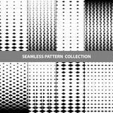 Vektor-abstrakte geometrische nahtlose Muster-Design-Sammlung Stockfotografie