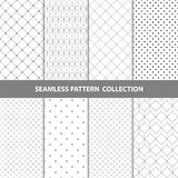 Vektor-abstrakte geometrische nahtlose Muster-Design-Sammlung Lizenzfreies Stockbild