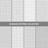 Vektor-abstrakte geometrische nahtlose Muster-Design-Sammlung Stockfotos