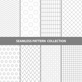 Vektor-abstrakte geometrische nahtlose Muster-Design-Sammlung Lizenzfreie Stockbilder