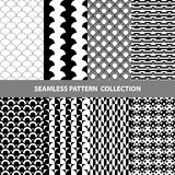 Vektor-abstrakte geometrische nahtlose Muster-Design-Sammlung Stockbilder