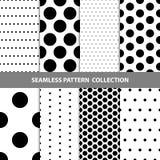 Vektor-abstrakte geometrische nahtlose Muster-Design-Sammlung Lizenzfreies Stockfoto