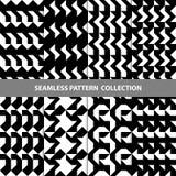 Vektor-abstrakte geometrische nahtlose Muster-Design-Sammlung Lizenzfreie Stockfotografie