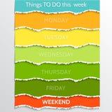 Vektor abstrakte Mehrfarben-todo Entschließungsliste Lizenzfreies Stockbild
