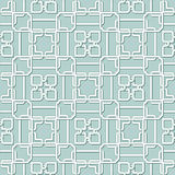 Vektor-abstrakte nahtlose geometrische islamische Tapete Stockbilder