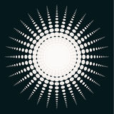 Vektor abstrakte Schwarzweiss--Sun-Illustration Lizenzfreie Stockfotografie