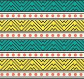 Vektor-abstrakte Stammes- afrikanische ethnische Muster-Hintergrund-Illustration Stockfoto