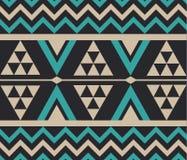 Vektor-abstrakte Stammes- ethnische Muster-Hintergrund-Illustration Stockbild