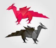 Vektor abstrakter Origamidrache Lizenzfreies Stockfoto