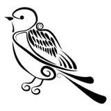 Vektor - abstrakter Vogel lizenzfreie stockfotografie