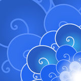 Vektor abstraktes blaues lineart Meereswoge backround stockfotos