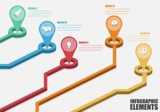 Vektor abstraktes 3d infographic Stockfoto