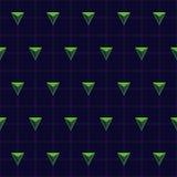 Vektor-abstraktes geometrisches nahtloses Muster-Design Stockbilder