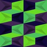 Vektor-abstraktes geometrisches nahtloses Muster-Design Lizenzfreie Stockbilder