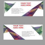Vektor-abstraktes Geschäfts-Fahnen-Titel-Design Lizenzfreie Stockfotos