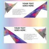 Vektor-abstraktes Geschäfts-Fahnen-Titel-Design Stockfoto
