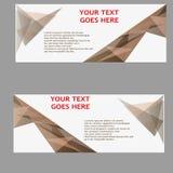 Vektor-abstraktes Geschäfts-Fahnen-Titel-Design Stockbild