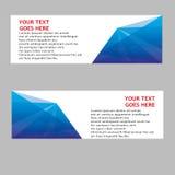 Vektor-abstraktes Geschäfts-Fahnen-Titel-Design Stockfotos