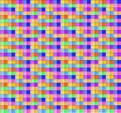 Vektor abstraktes Semless-Muster, quadratische geometrische bunte Formen lizenzfreie abbildung
