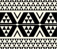 Vektor-abstraktes Stammes- Muster Stockfoto